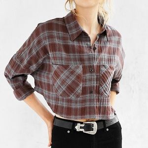 UNIF x UO Flannel Button Down Shirt